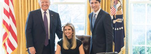Un cliché de Ivanka Trump assise dans le fauteuil présidentiel agite la Toile
