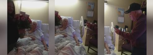 L'émouvante sérénade d'un homme de 86 ans à sa femme hospitalisée
