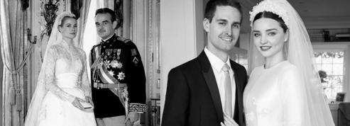 Miranda Kerr s'inspire de Grace Kelly pour sa robe de mariée Dior