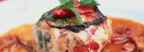 Crépinettes de chipirons au pied de porc, sauce chorizo