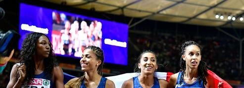 Le relais 4x400m féminin en argent