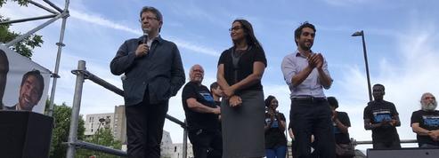 A Evry, Mélenchon vient soutenir sa candidate face à Valls