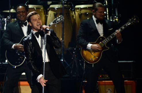 Justin Timberlake lors des Brit Awards.