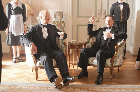 Franklin D. Roosevelt (Bill Murray) et George VI (Samuel West) dans le film de Roger Michell,<i> Week-End Royal</i>, dans nos salles le 27 mars.