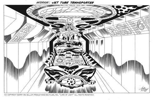 Le «roi des comics», Jack Kirby, est à l'origine de ces esquisses.