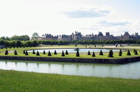 Les jardins du château de Fontainebleau.