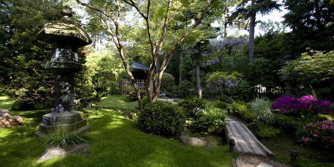 Le jardin japonais du musée Albert-Kahn à Boulogne-Billancourt (92).