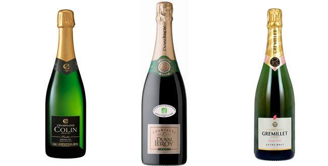 3 champagnes entre 15 et 30€