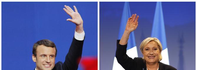 Marine Le Pen en visite à Rungis