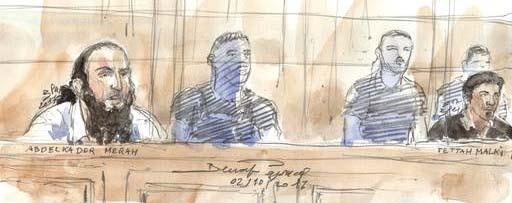 Procès Merah : «Je sais que j'ai trop menti», admet le second accusé, Fettah Malki