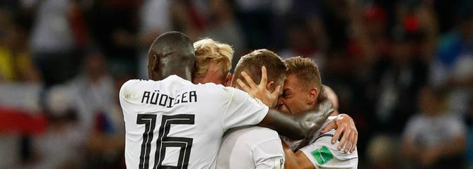 Coupe du monde : Toni Kroos arrache la victoire de l'Allemagne face à la Suède