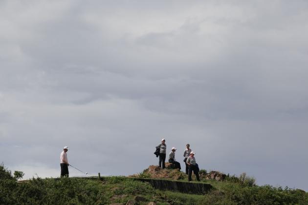 Somptueux, les tees de départs de Pléneuf val André surplombant l'Océan (Karin Dilthey).
