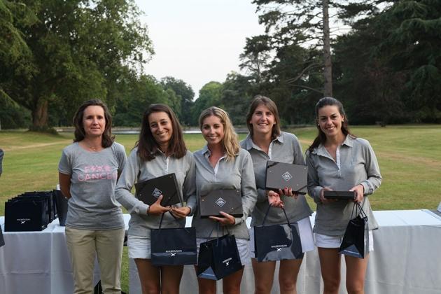 Les lauréates en brut, Fanny Rocard, Morgane Bazin de Jessey, Sarah Costa et Charlotte Gardella, récompensées par Mauboussin et le chocolatier Michel Cluizel (Karin Dilthey).