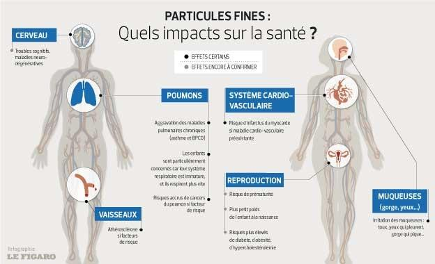 Particules fines : quels impacts sur la santé ?