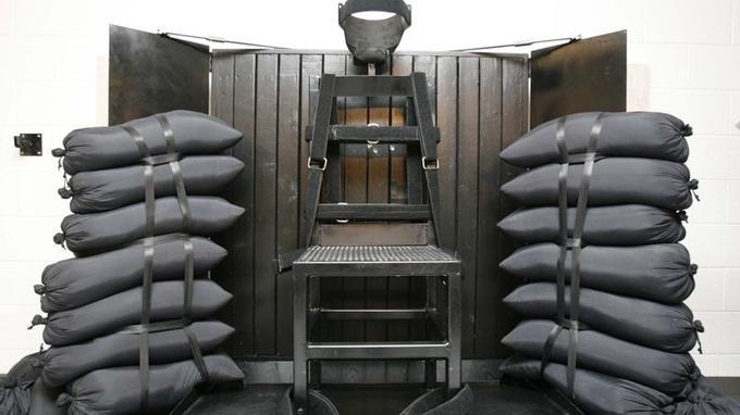 La chambre reservée au peloton d'exécution dans la prison de l'Utah, à Draper.