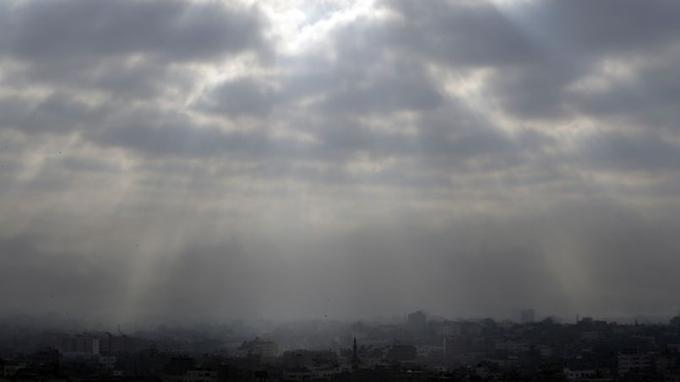 Gaza, vendredi matin, juste avant le cessez-le-feu.