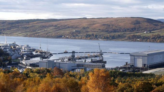 La base navale de Faslane.