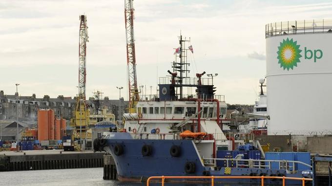 Les docks d'Aberdeen.