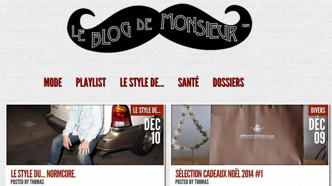 Capture d'écran de la page d'accueil (Crédit: le blog de monsieur)