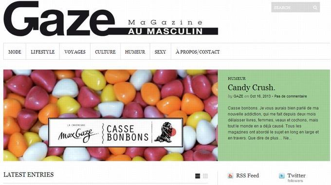 Capture d'écran de la page d'accueil (Crédit: Gaze)
