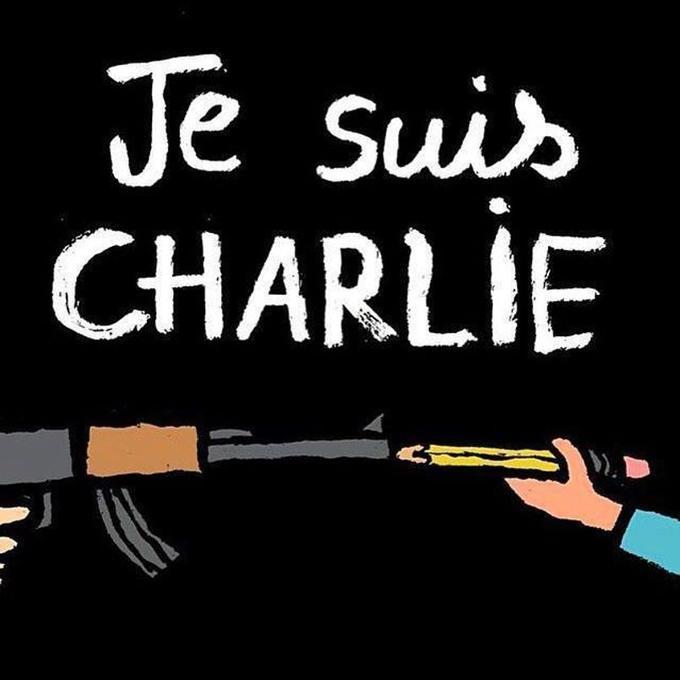 Dessin de Jean Jullien partagé sur la page Facebook Soutien à Charlie Hebdo