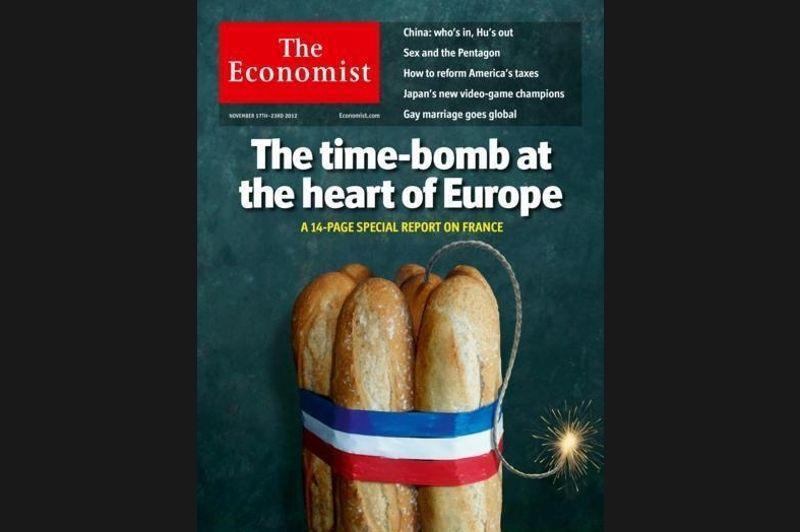 En couverture de son numéro du 17 novembre, le magazine britannique du monde des affaires prédit à la France un avenir noir. Cette une fait réagir la classe politique française, Arnaud Montebourg n'hésitant pas à qualifier le prestigieux hebdomadaire de «Charlie Hebdo de la City».