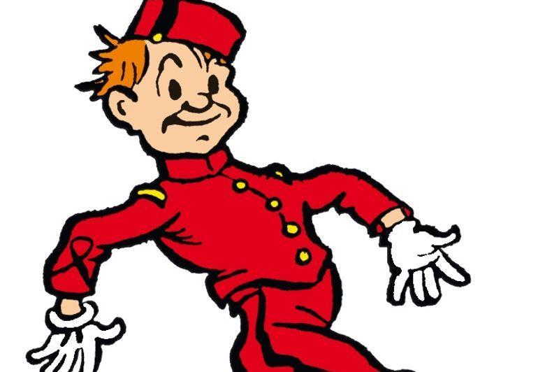 <b>1938: Rob-Vel</b>1938 marque la naissance graphique de Spirou sous le trait de Robert Velter dit Rob-Vel. Le dessinateur a puisé dans ses souvenirs personnels pour créer le personnage. Il s'est inspiré de son expérience de chef de rang sur un paquebot pour camper le petit groom. Paquebot sur lequel il avait rencontré le dessinateutr américain Martin Branner pour lequel il a travaillé. D'emblée Rob-Vel apporté cette touche américaine à Spirou. Sous le crayon de Rob-Vel Spirou est une sorte de Poulbot, un petit bonhomme de 14 ans sorte de mousse espiègle qui est là pour servir les gens.