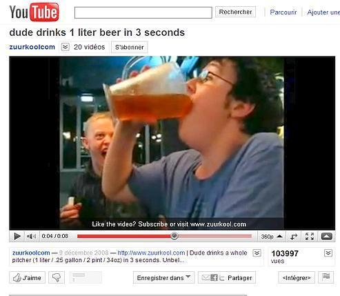 Sur Internet, l'alcool coule à flots