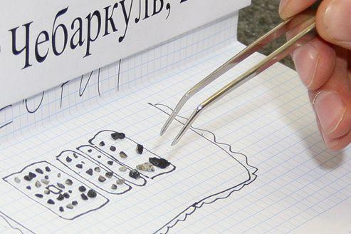 Des fragments de la météorite russe examinés en détail