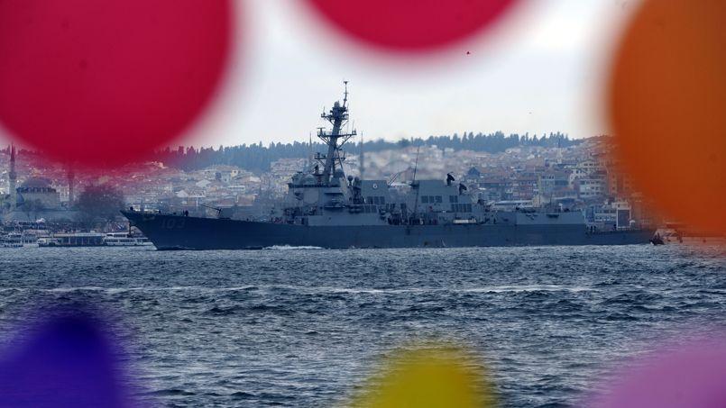 Flotte russe au large d'Istanbul, le 7 mars 2014.