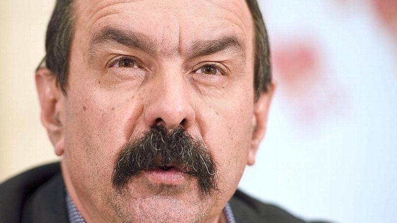 Philippe Martinez, le nouveau patron de la CGT, juge que travailler 32h par semaine ne serait «pas une absurdité». (AFP PHOTO/ÉRIC FEFERBERG).