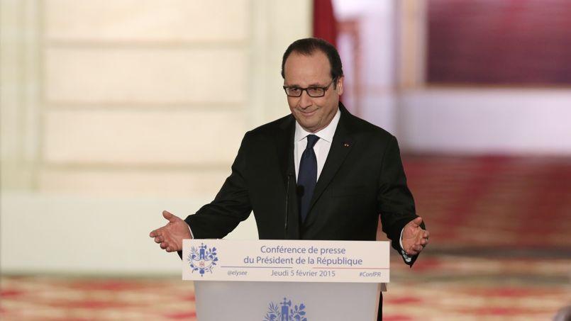 François Hollande lors de sa conférence de presse le 5 février.