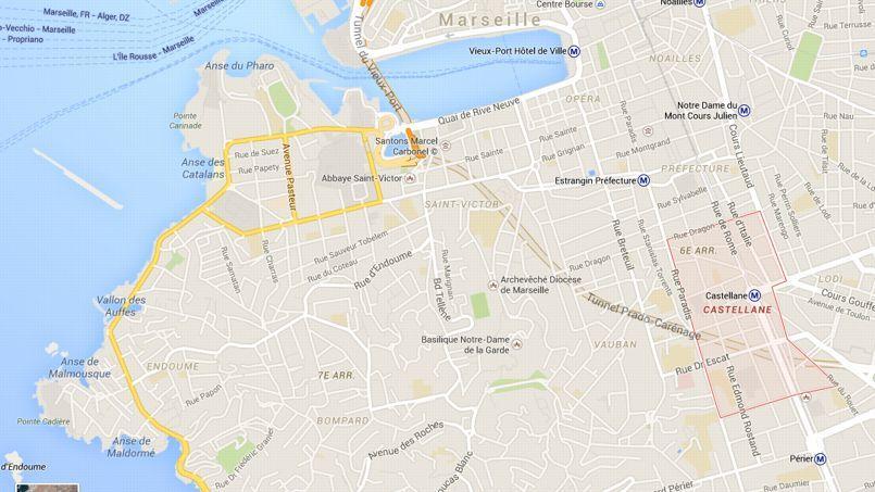 Le quartier de La Castellane, où a eu lieu lundi matin la fusillade entre deux bandes rivales.
