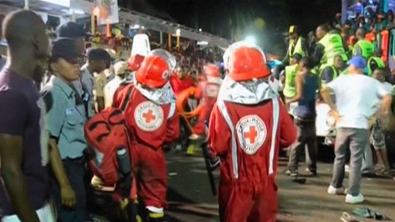 Scène d'évacuation au Carnaval de Port-au-Prince