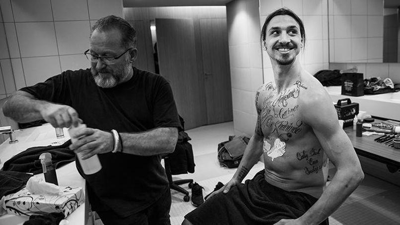 Zlatan Ibrahimovic efface ses tatouages éphémères (Photo: Twitter)