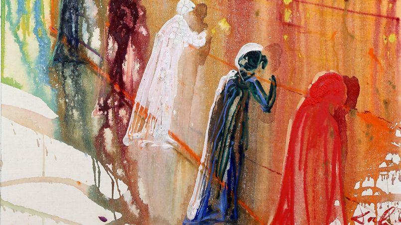 <i>Le Mur des lamentations (détail), </i>Salvator Dali, 1975. <i/>