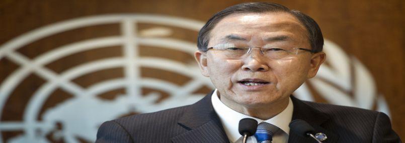 Ban Ki-moon, le 21 mars dernier.