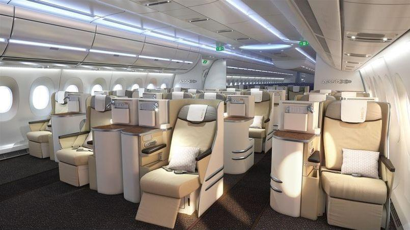 L 39 int rieur de l 39 airbus a350 for L interieur d un avion