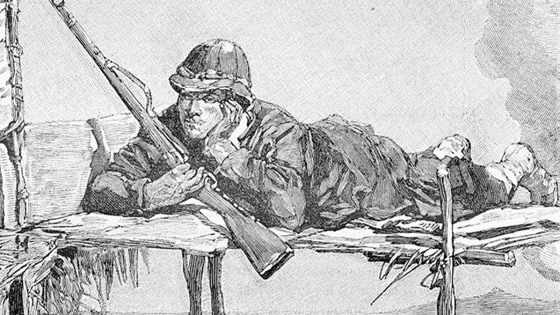 Un tireur d'élite de la Légion étrangère, en 1887.