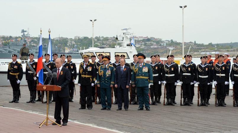 Le président Poutine, lors de sa visite à Sébastopol.