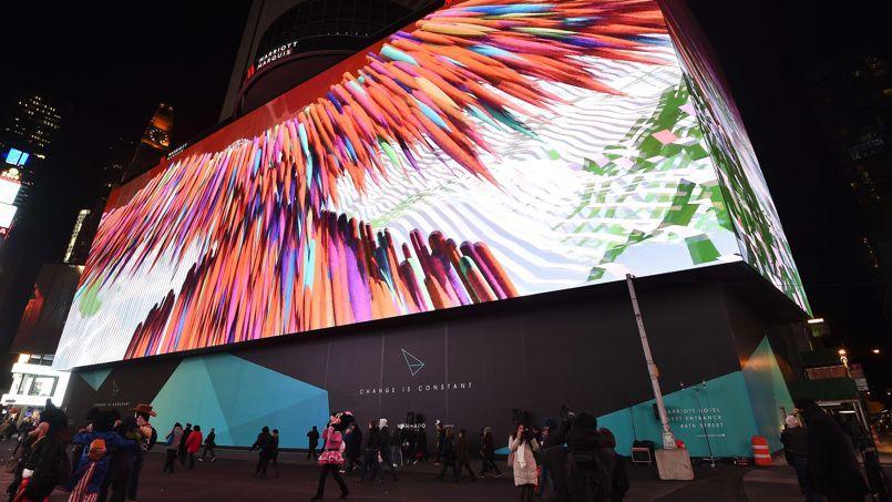 Times square inaugure le plus grand cran num rique du monde for Photo ecran times square