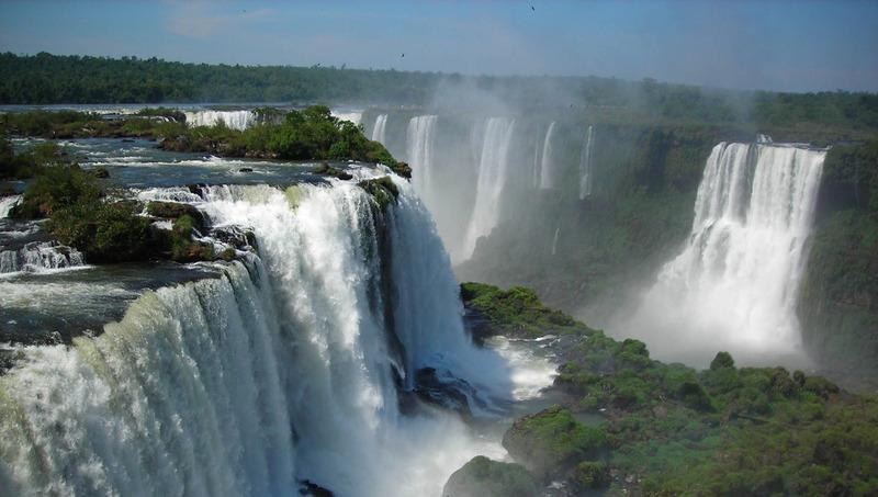 Au coeur des chutes d'Iguazu