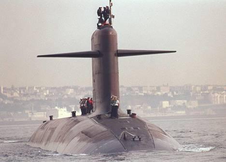 Le sous-marin nucléaire lanceur d'engins de nouvelle génération le Triomphant.