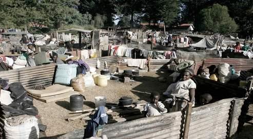 Pour échapper à la violence et aux pillages, des réfugiés kikuyus se sont installés, avec les biens qu'ils ont pu sauver, dans un camp improvisé autour de l'école de Burn Forest.