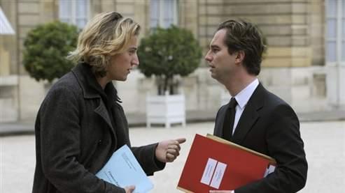 Jean Sarkozy et David Martinon (AFP)