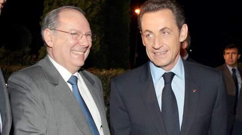 Le président du Crif Richard Prasquier et Nicolas Sarkozy.