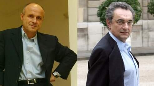 Olivier Poivre d'Arvor et Georges-Marc Benamou. Photos Figaro/Soriano et Kovarik/AFP