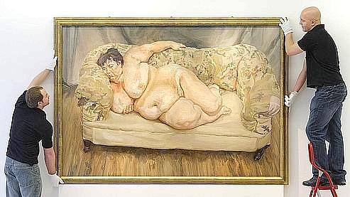 L'œuvre de Lucian Freud, «Benefits Supervisor Sleeping» a été vendue 22 millions d'euros en 2008. (Photo AFP)