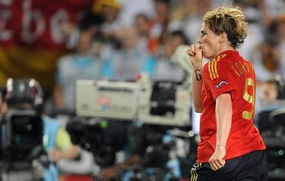Nando Torres a inscrit le but de la victoire pour l'Espagne