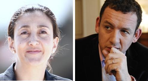 Ingrid Betancourt et Dany Boon (photos Le Figaro).